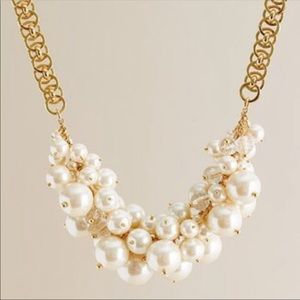 J. Crew Pearl Cluster Necklace